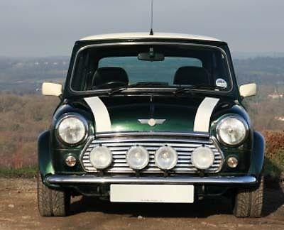 Classic Mini White Bonnet Stripes Msa1120 Rover Cooper Austin Morris