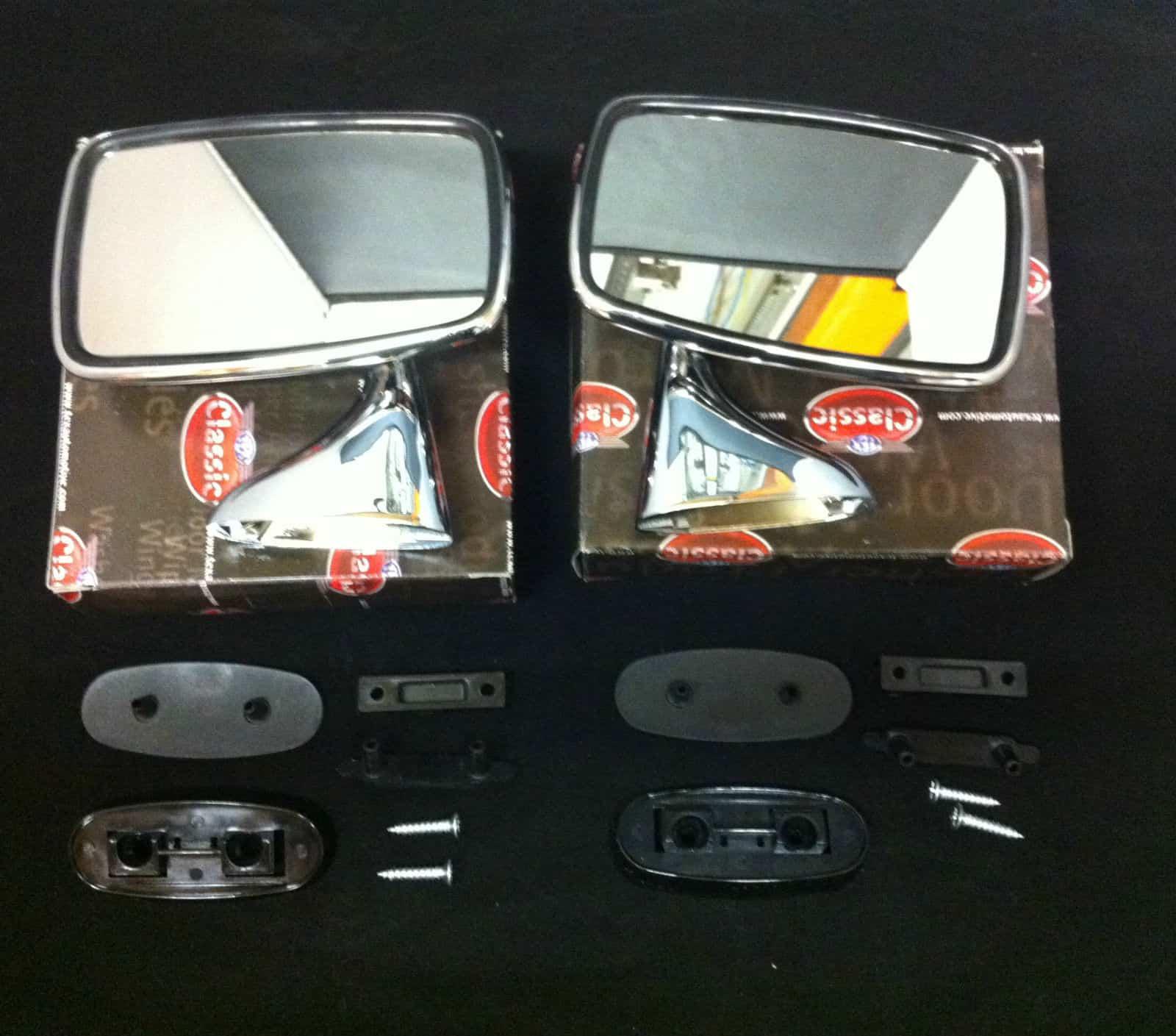 CLASSIC CAR LUCAS STYLE CHROME WING//DOOR MIRROR R//H WM1906 O//S FLAT GLASS 4E4